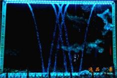 数控水幕W字母图形