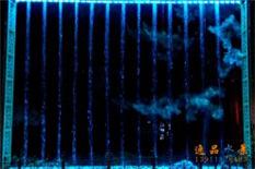蓝色直条数控水帘