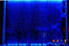 蓝色流水幕