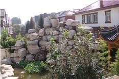 别墅庭院花园假山水景