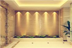 暖色石材水幕背景墙