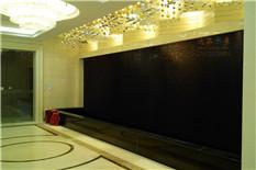 北京银行黑色石材流水墙
