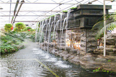 生态园欧式水帘喷水小品