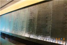 北京朝阳波纹玻璃水幕墙