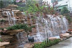 公司假山流水墙瀑布