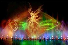 公园广场水幕投影喷泉