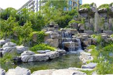 花园园林假山瀑布流水景