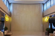 宾馆水幕墙/米黄石材