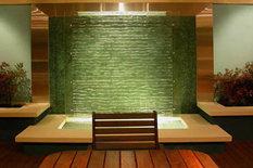 家庭水幕墙艺术玻璃流水