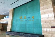 波纹玻璃水幕墙景观